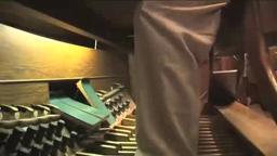 Eric Plutz on the pipe organ at Princeton University Chapel.