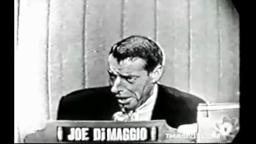 Joe DiMaggio Rare Footage on What's My Line  Yankee great