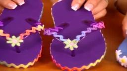 Making Designer Flip Flops With Your Kids.