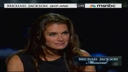 Brooke Shields Speaks at Michael Jackson Memorial Service 