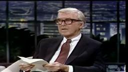 James Stewart Princeton '32- 'Beau Poem', Johnny Carson 1981