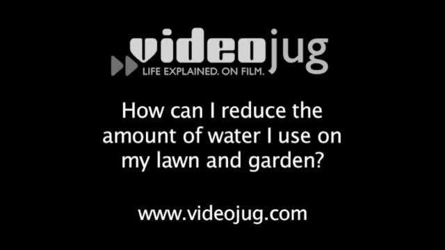 Water-Wise gardening and lawn sprinkling.