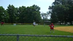Check out Dad (in the white shirt),he can still catch, no doubt!