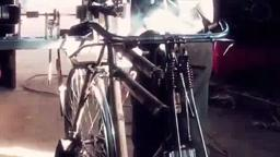Bicycle-powered pump delivers water to remote areas.