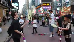 JugglingLife Inc. 'I Raise Up' by Bushwalla in Times Square