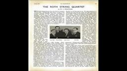 1937 Roth String Quartet Westminster Choir College