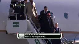 Giants Arrive in Indy