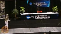 NCAA Fencing 2012 - Women's Sabre Semifinal Eliza Stone