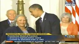 Toni Morrison Receives The Presidential Medal Of Freedom