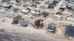 Aerial View of New Jersey Coast Line After Hurricane Sandy f