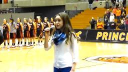 Jenna Venturi National Anthem Princeton Women's B-Ball