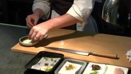elements plating Chef Mike prepares a unique delicious entree
