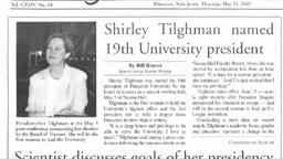 19th President Shirley M. Tilghman and members of the Univer