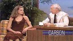 BrookeJohnnyCarson Brooke Shields Princeton '87