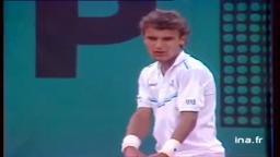 Yannick Noah Father of Joakim wins French Open 1983